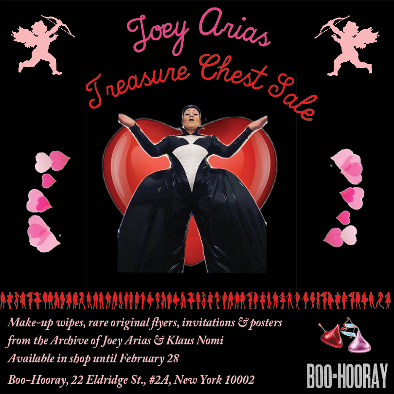 Joey Arias Valentines Spectacular & Treasure Chest Sale