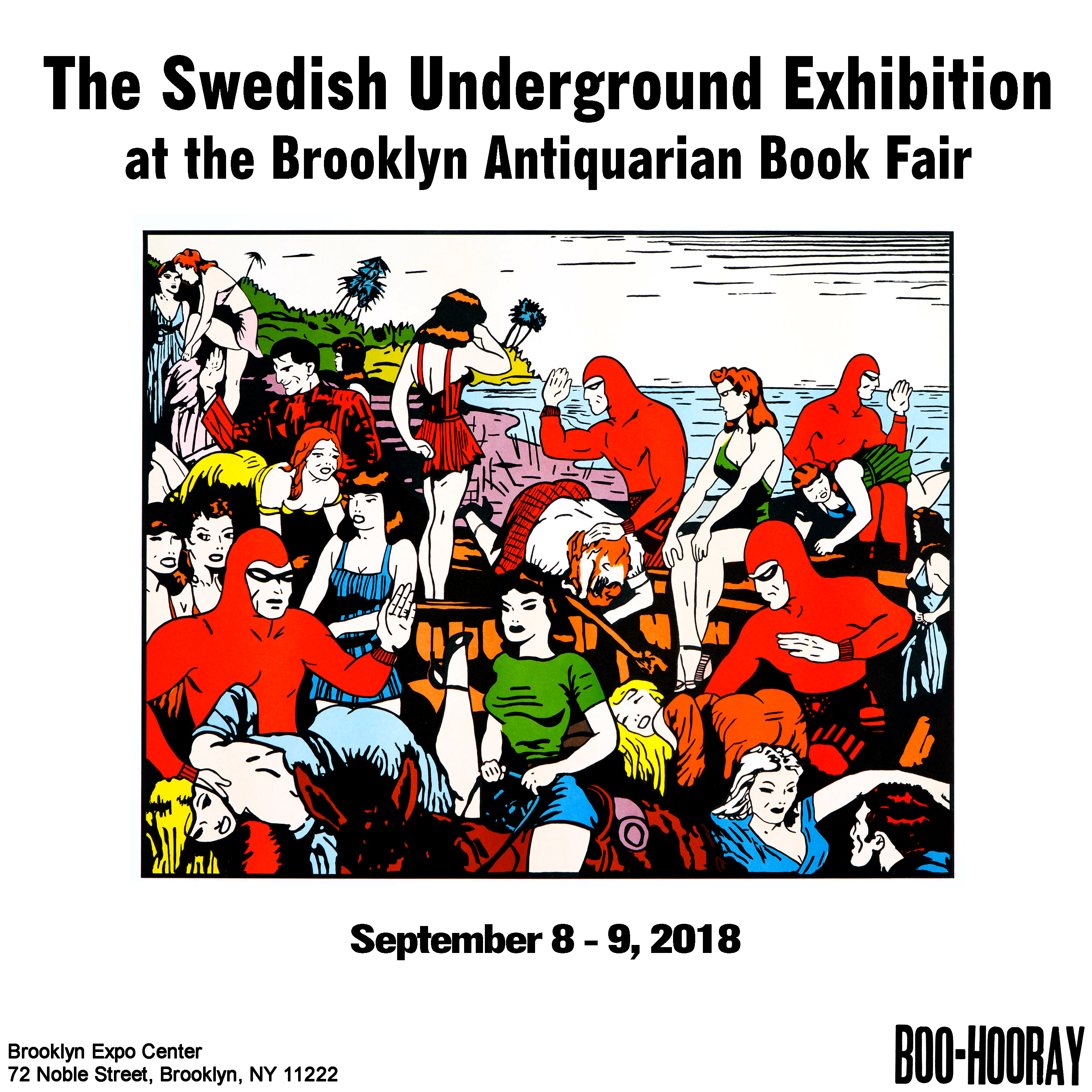 The Swedish Underground Exhibition at the Brooklyn Antiquarian Book Fair