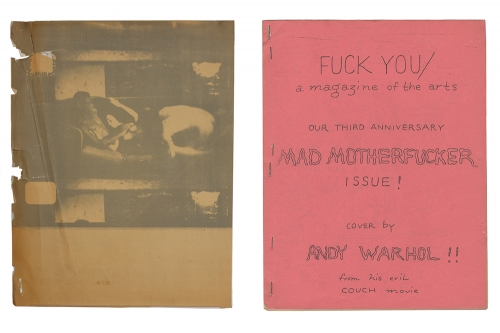 Ed Sanders: Fuck You / A Magazine of the Arts, 1962 - 1965