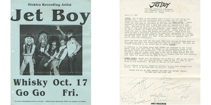 The Jetboy and The Sunset Strip Archive