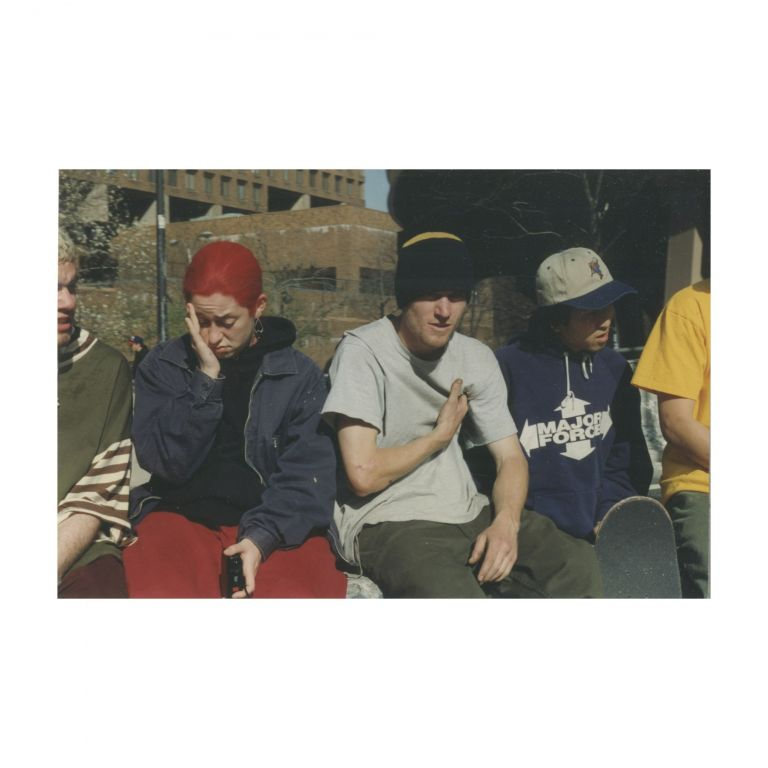 Untitled (Girl with Red Hair and Boys in Park). Larry Clark.