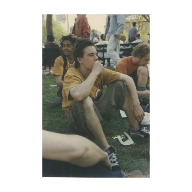 Untitled (Justin Pierce Smoking in Park). Larry Clark.