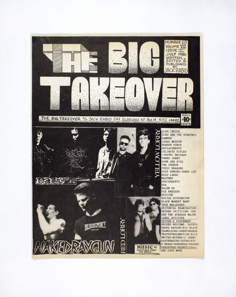 The Big Takeover No. 20 Vol. 7 Issue 1. Jack Rabid.