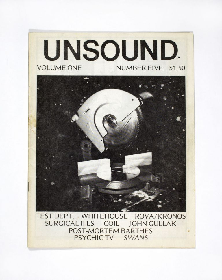 Unsound Volume One Number Five (1984). ed William Davenport.