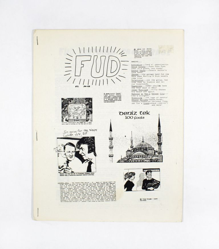 FUD No. 2, January – February (1986). FUD, Christopher Stigliano.