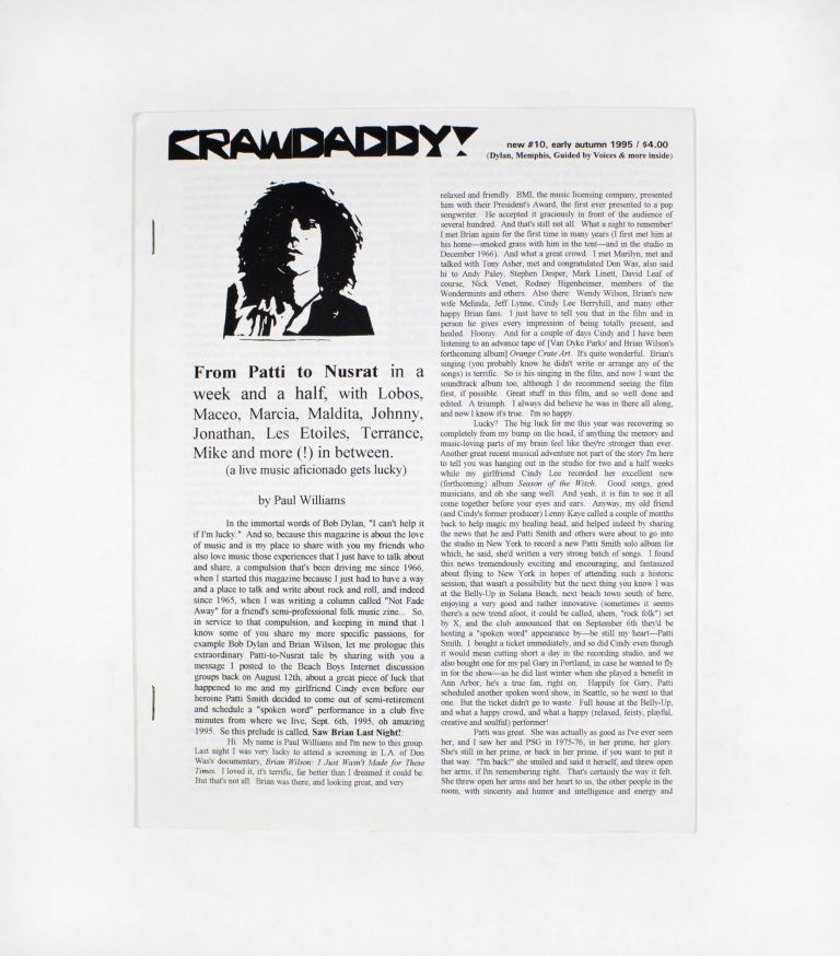 Crawdaddy!, new no. 10. ed Paul Williams.