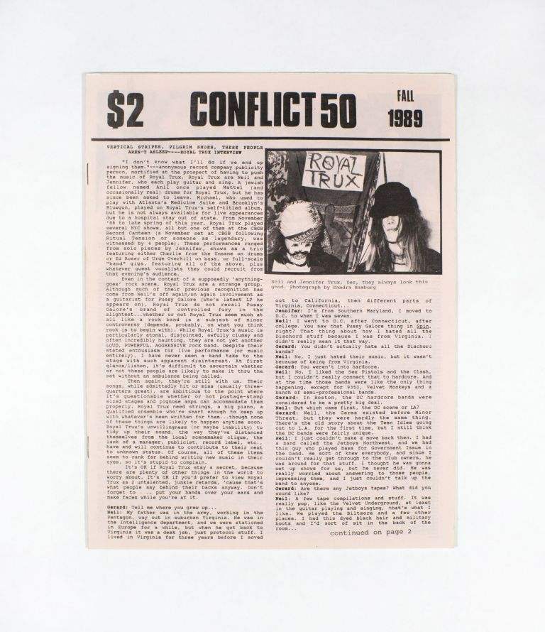 CONFLICT, Number 50, Fall 1989. ed Gerard Cosloy.