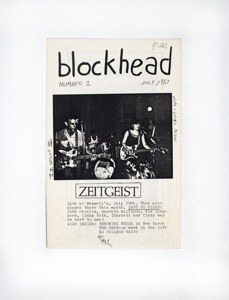 Blockhead Number 1, July 1987. writer and layout Mike Appelstein.