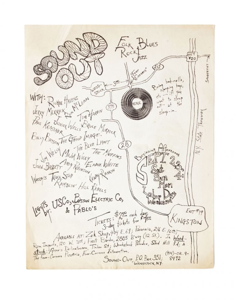 Flyer for the First Woodstock Sound-Out. Woodstock.