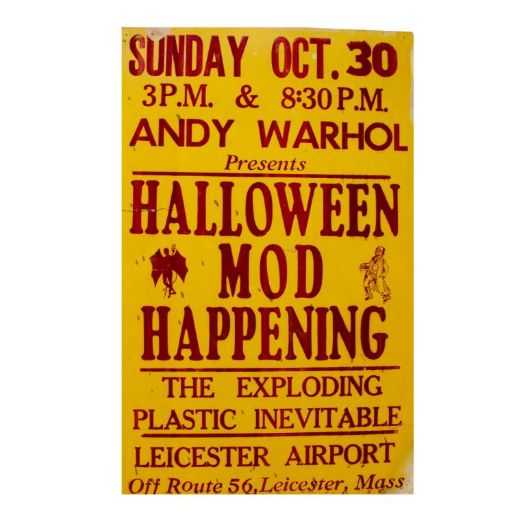 Exploding Plastic Inevitable. Andy Warhol Presents Halloween Mod Happening. Andy Warhol.