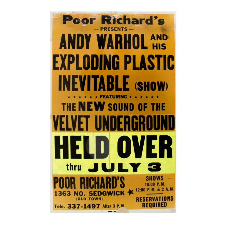 Poor Richard's Presents Andy Warhol and His Exploding Plastic Inevitable. Andy Warhol.