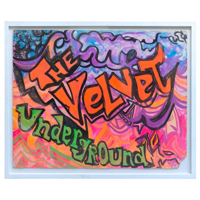 Hand-Painted Poster From an Early Performance. The Velvet Underground.