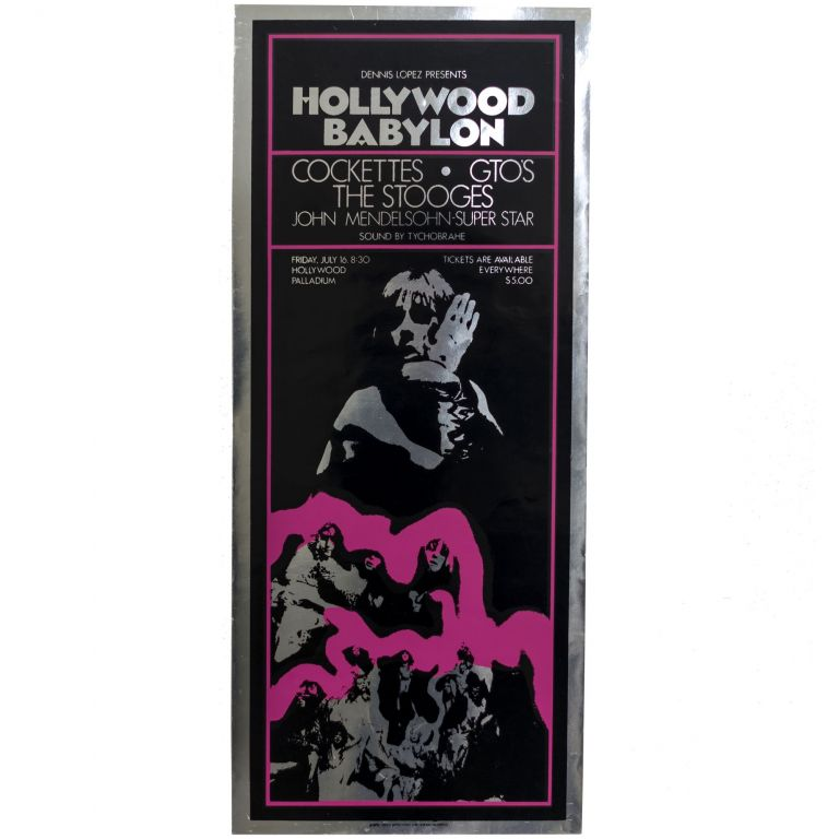 Poster for Hollywood Babylon. The Cockettes, The Stooges.