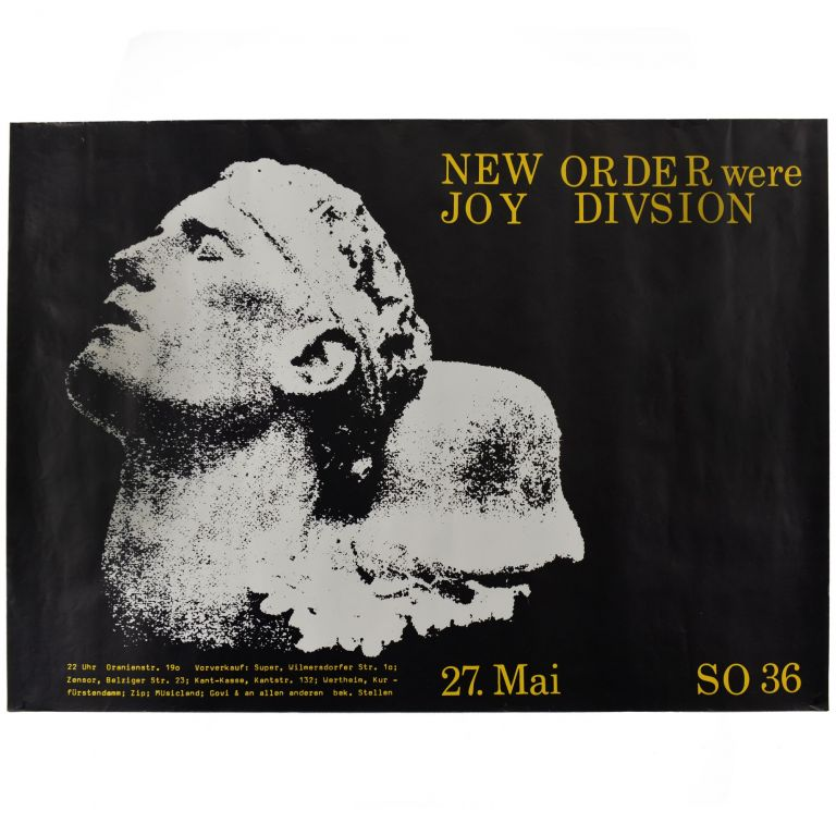 New Order Were Joy Divsion [sic]. Mark Reeder, New Order.
