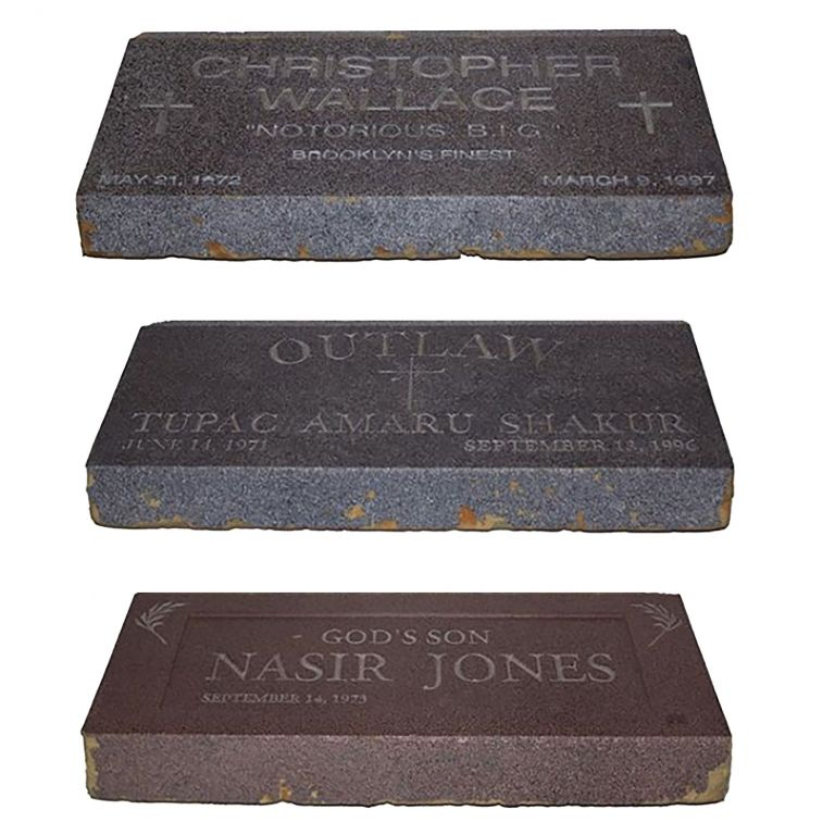 Three Fabricated Tombstones for an Unreleased Music Video. Nas, Nasir Jones.