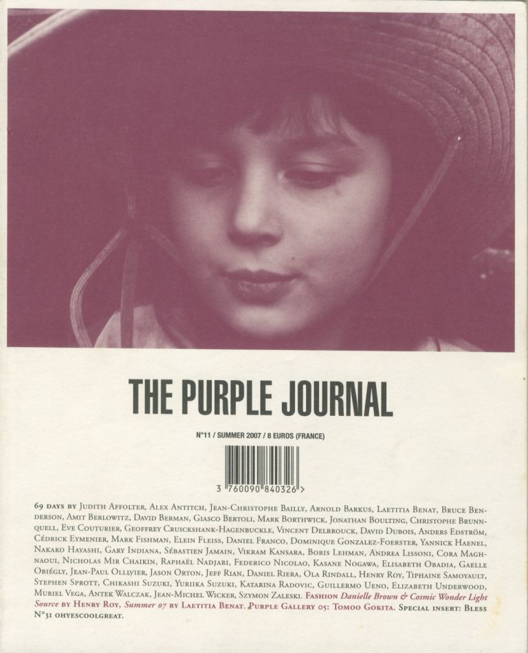 The Purple Journal, No. 11. Elein Fleiss, Olivier Zahm.