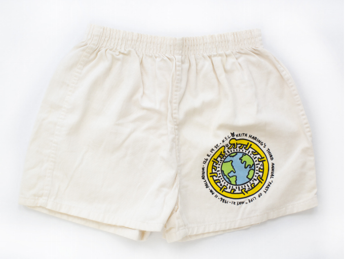 Invitation to the Third Party of Life [Silkscreened Shorts]. Keith Haring.