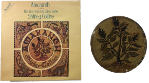 Amaranth [Autographed by Shirley Collins, includes original artwork]. Shirley Collins.