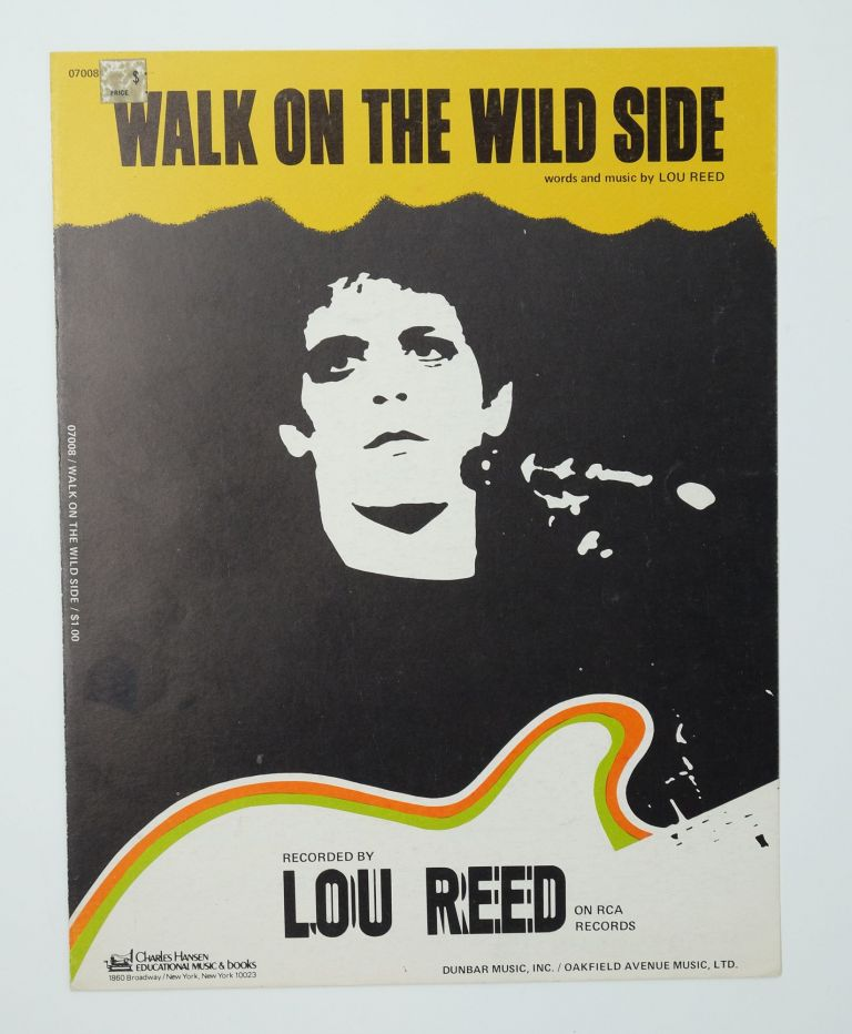 "Lou Reed - ""Walk on the Wild Side"" Sheet Music"