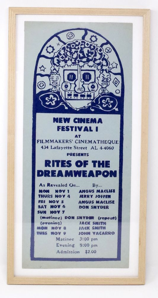New Cinema Festival I at Filmmaker's Cinematheque Presents Rites of the Dreamweapon