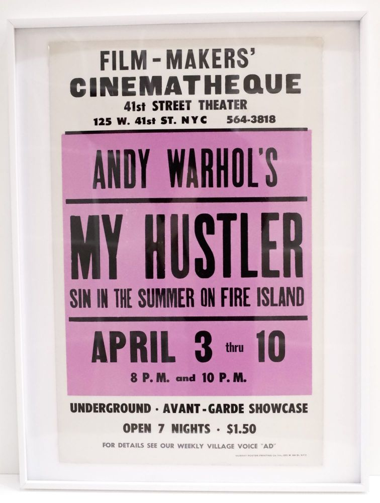 Poster for A Screening of My Hustler at the Film-Makers' Cinematheque. Andy Warhol.