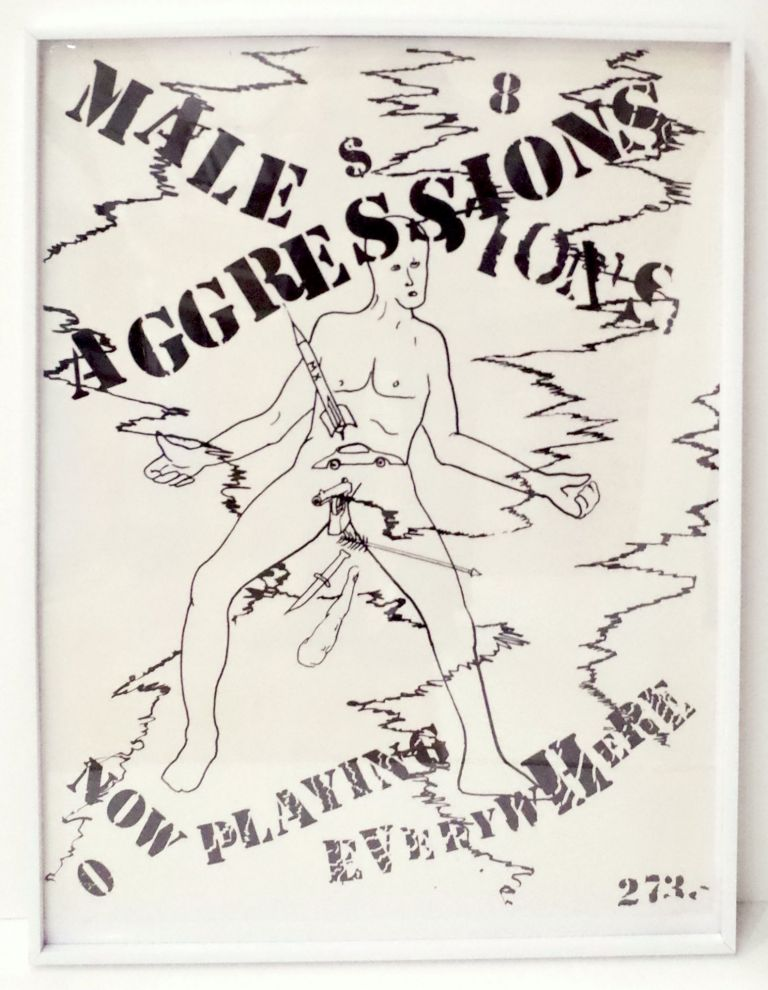 Male Aggressions: Now Playing Everywhere. Jonathan Borofsky.