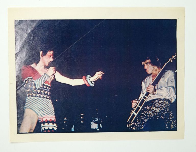 David Bowie and Iggy Pop at Ziggy Stardust Tour. Leee Black Childers.