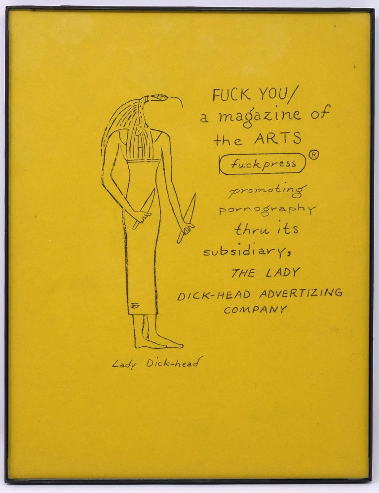 Lady Dick-head Advertising Company Flyer. Ed Sanders.