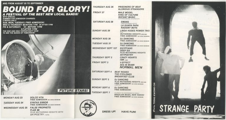 Strange Party at Danceteria Fold-out Flyer