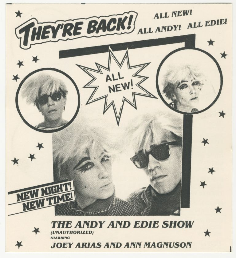 The Andy and Edie Show: They're Back! Danceteria Handbill