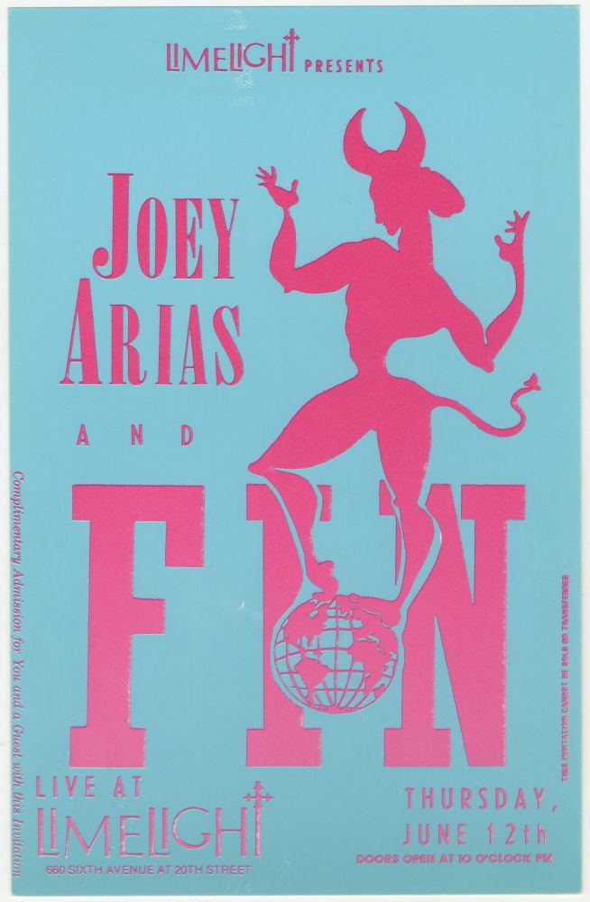 Limelight Presents Joey Arias and Fin invitation