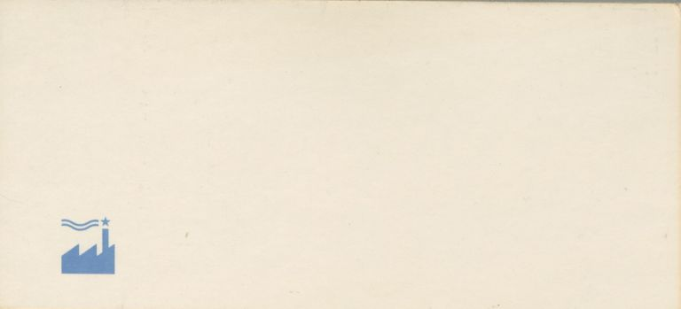 Adhesive mailing label. Factory Records US.