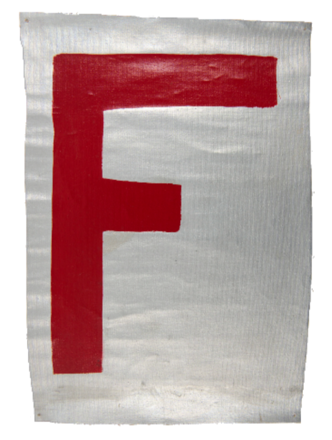 Untitled [Original artwork for the Factory Records US logo]. Lawrence Weiner.