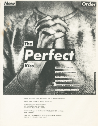The Perfect Kiss Flyer [advertisement and poster order form]. Barbara Kruger.