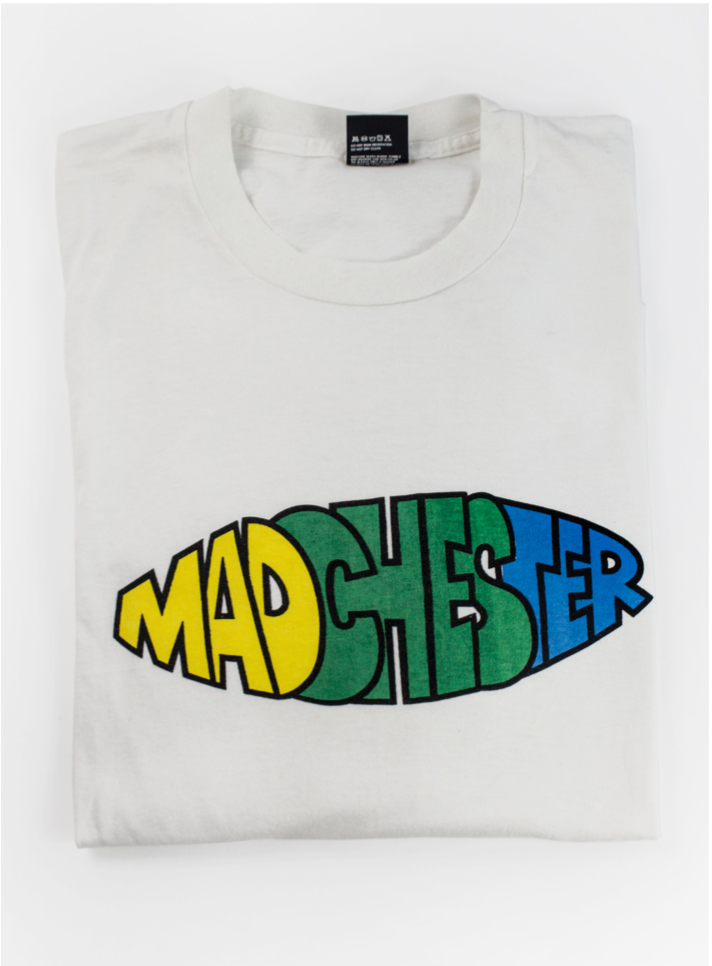 "Happy Mondays ""Madchester"" T-shirt. FAC261. Central Station Design."