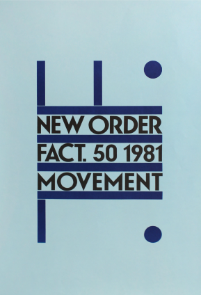 New Order Movement Promotional Poster. Peter Saville.
