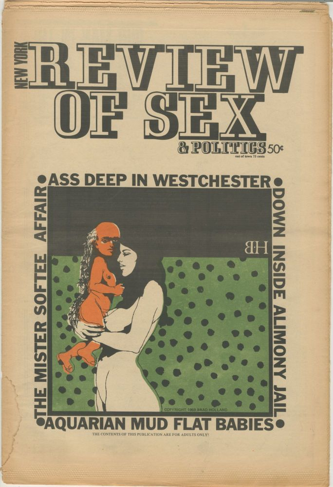 The New York Review of Sex and Politics, Vol. 1 No. 14. S. Edwards, ed Steven Heller.