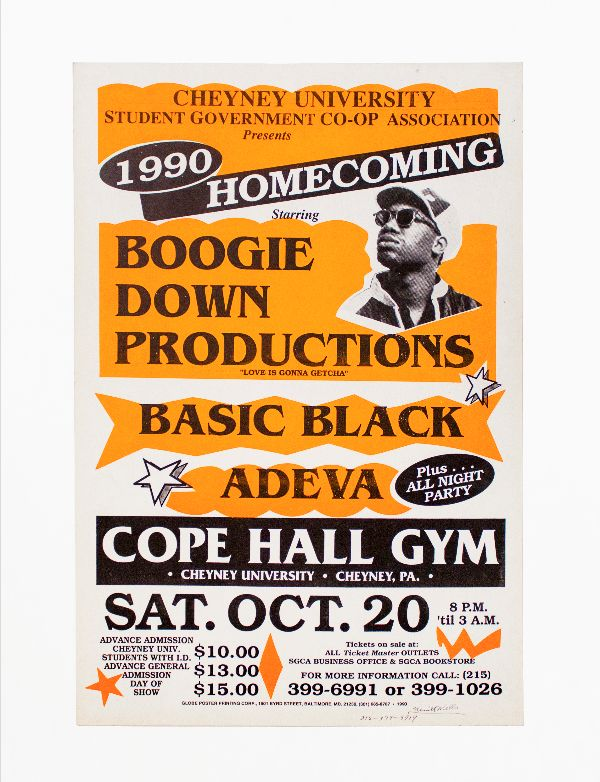 Boogie Down Productions at 1990 Cheyney University Homecoming. Boogie Down Productions.