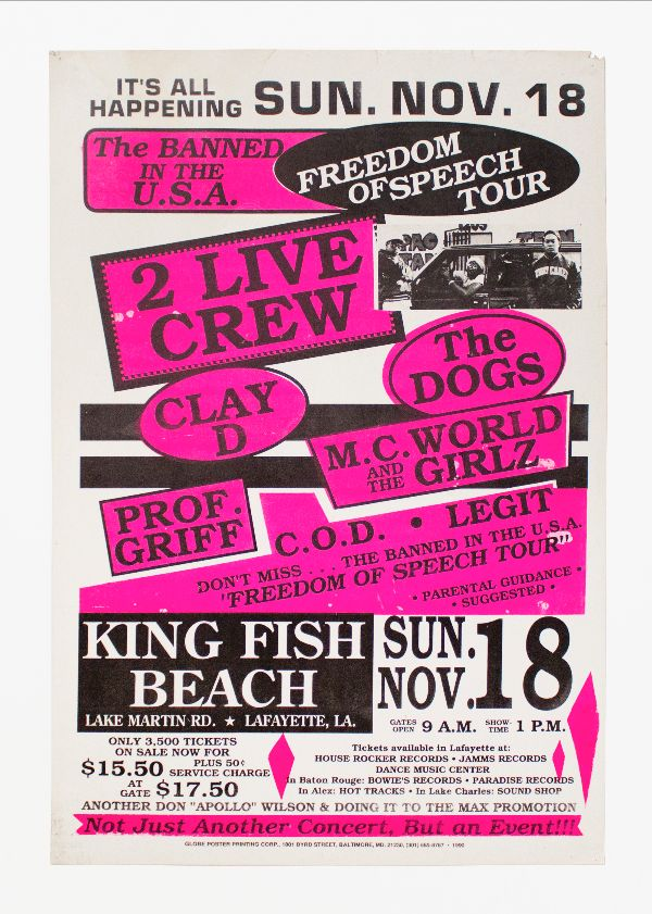 2 Live Crew Banned in the U.S.A. Freedom of Speech Tour. 2 Live Crew.