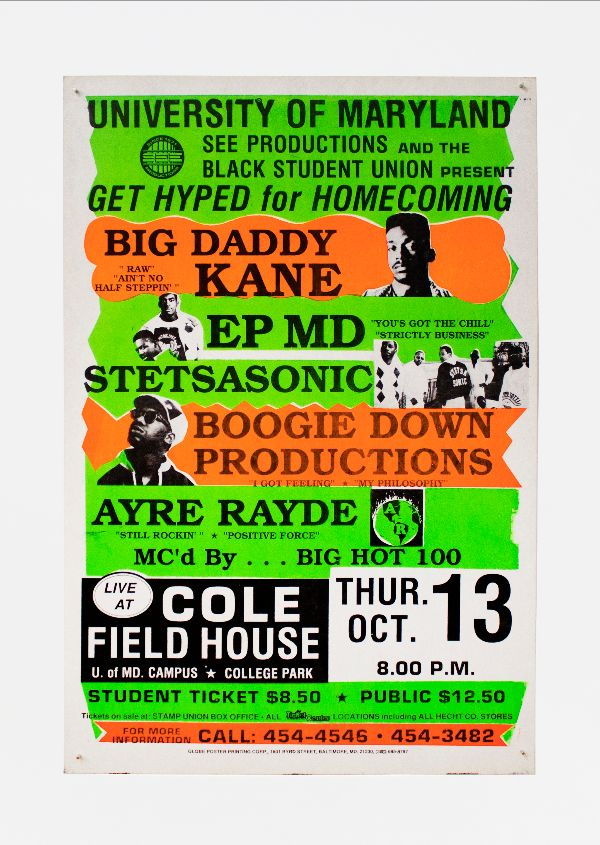Big Daddy Kane, EPMD, Stetsasonic, Boogie Down Productions at University of Maryland. EPMD Big Daddy Kane, Boogie Down Productions, Stetsasonic.