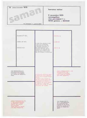 Blocked Off With / Closed Off With / Diverted With. Lawrence Weiner.