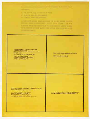 Three Works of Lawrence Weiner Concerning Color Presented for Sale &/Or Information Within the (A) Context of an Installation. Lawrence Weiner.
