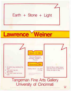 Earth + Stone + Light. Lawrence Weiner.