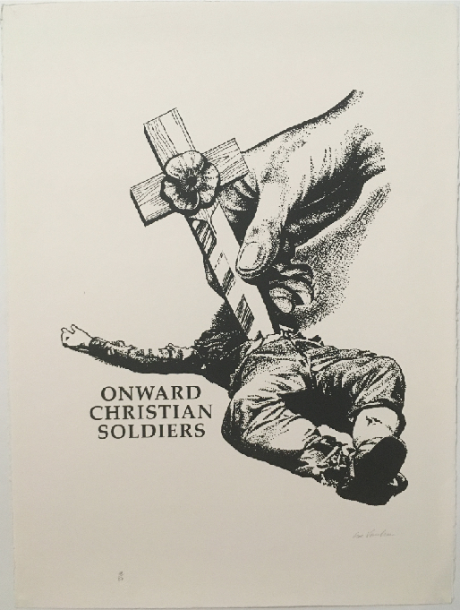 [Signed and stamped] Onward Christian Soldier. Gee Vaucher.