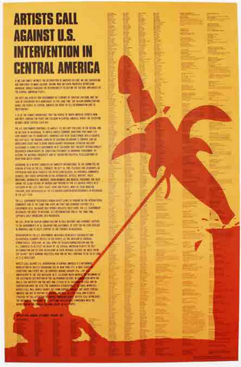 Artists Call Against U.S. Intervention in Central America. Claes Oldenburg.