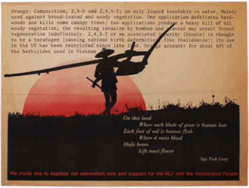 We made this to express our admiration, love and support for the NLF and the Vietnamese People