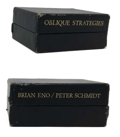 [Brian Eno / Peter Schmidt] Oblique Strategies: Over one hundred worthwhile dilemmas. Brian Eno / Peter Schmidt.