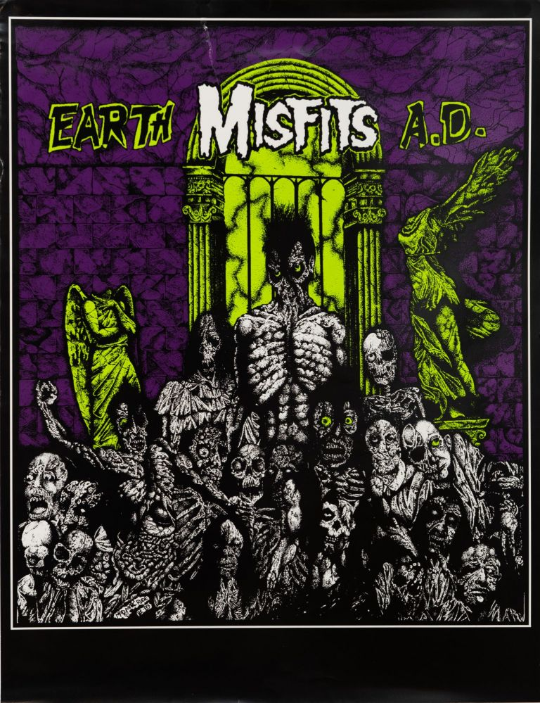 The Misfits Earth A.D. Poster. Mad Marc Rude, Marc Hoffman.