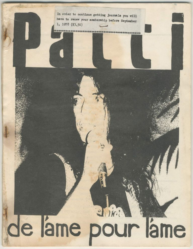 Patti: de láme pour láme nos. 5 and 6. Patti Smith.