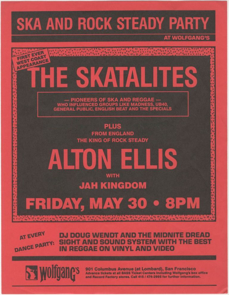 The Skatalites First Ever West Coast Experience at Wolfgang's. Skatalites.